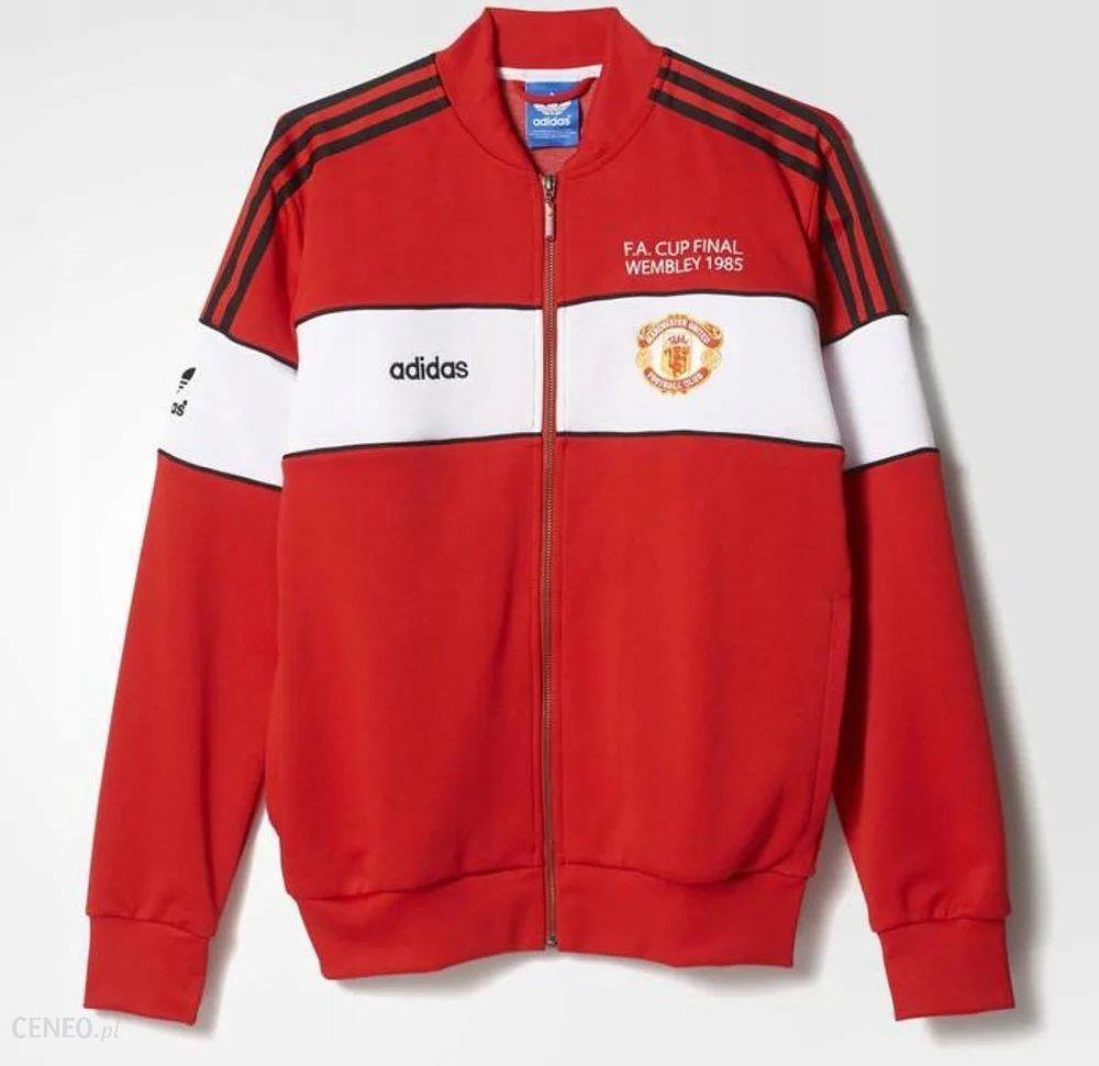 Bluza z kapturem adidas Originals Manchester United Fleece rozpinana Czarna