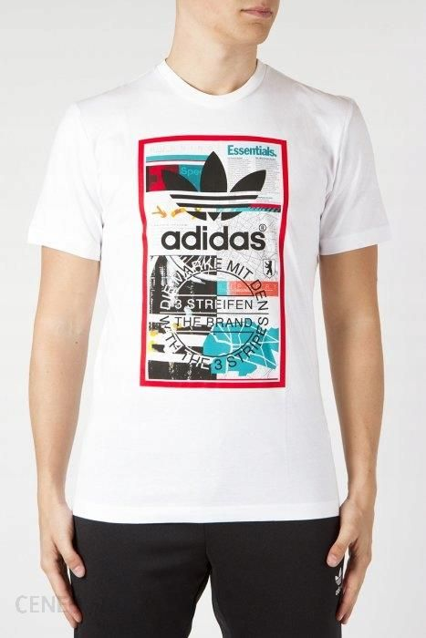 Koszulka męska Oversize Trefoil Adidas Originals (bordowa