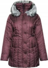 Ciepła zimowa kurtka w śliwkowym kolorze