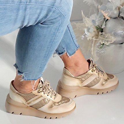 IGI&CO 7785 100 biancobianco, półbuty (sneakersy) damskie