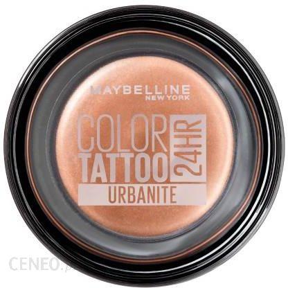Maybelline Color Tattoo Curved Brush żelowe cienie do powiek odcień Urbanite 4g