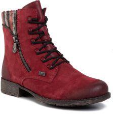 Rieker 658B2 35 sandały damskie bordowe płaskie 36