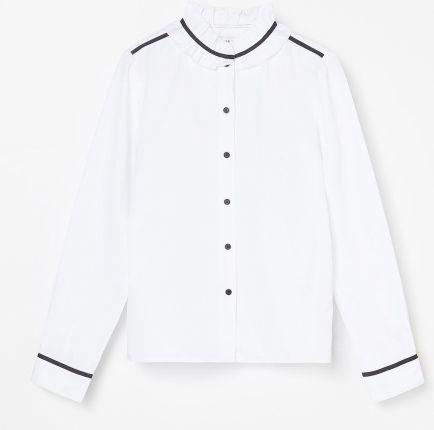 Biała elegancka koszula Mayoral w statki dla chłopca
