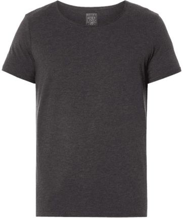 REVIEW T-shirt ze zrolowanym okrągłym dekoltem - Ceny i opinie T-shirty i koszulki męskie RTZC