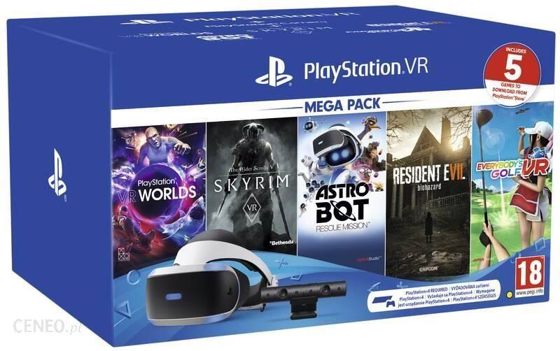 SONY Mega Pack 2: Gogle VR + Camera V2 + 5 gier
