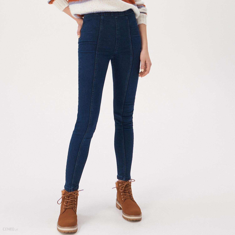 Czarne spodnie jeansy super slim high waist wysoki stan z