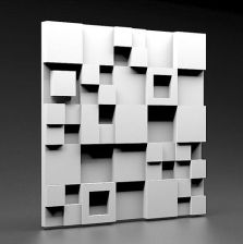 Zicaro Panel Ścienny White Flash 3D 52X52