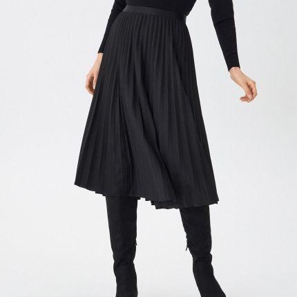 House Plisowana spódnica midi z połyskiem Szary damska
