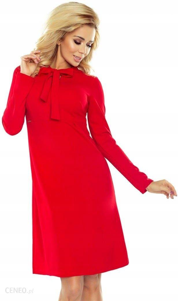 158 2 Ola sukienka trapezowa z wiązaniem pod szyją Ceny i opinie Ceneo.pl
