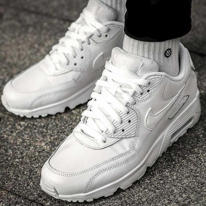 BUTY NIKE AIR MAX 90 LTR (GS) 833412 100 Ceny i opinie Ceneo.pl