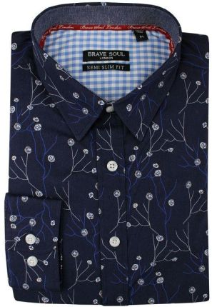 Koszula męska granat najtańsze sklepy internetowe