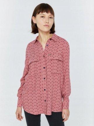 Ptak Moda Koszula damska w kratę różowa r. 40 Ceny i  ZTeU5