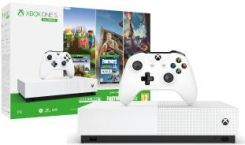 Microsoft Xbox One S 1TB All-Digital Edition + Minecraft: Xbox One Edition + Sea of Thieves + Fortnite Zestaw Polarne Mrozy