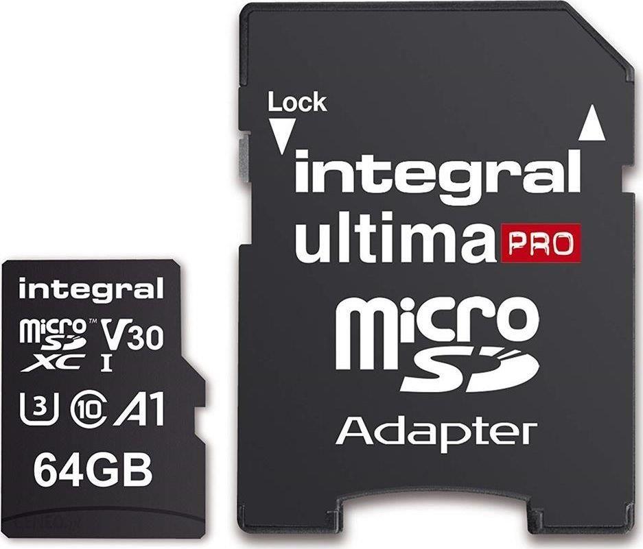 Karta Pamieci Do Aparatu Microsd Integral Micro Sdxc 64gb R 100mb S W 70mb S U3 V30 Ceny I Opinie Na Ceneo Pl
