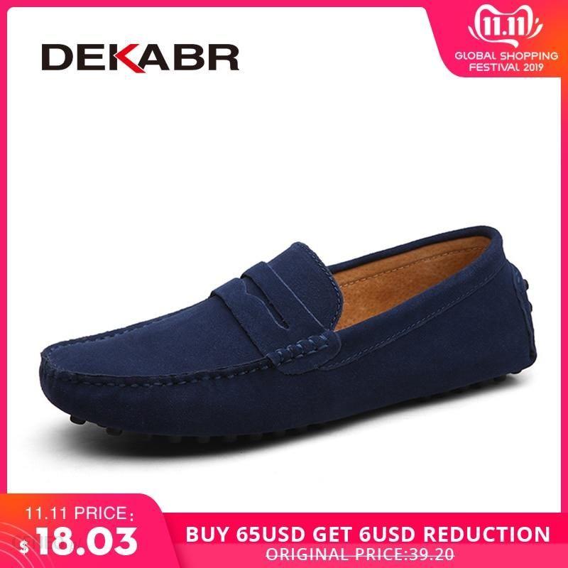 AliExpress DEKABR rozmiar 49 mężczyźni obuwie moda mężczyźni buty oryginalne skórzane męskie mokasyny mokasyny Ceneo.pl