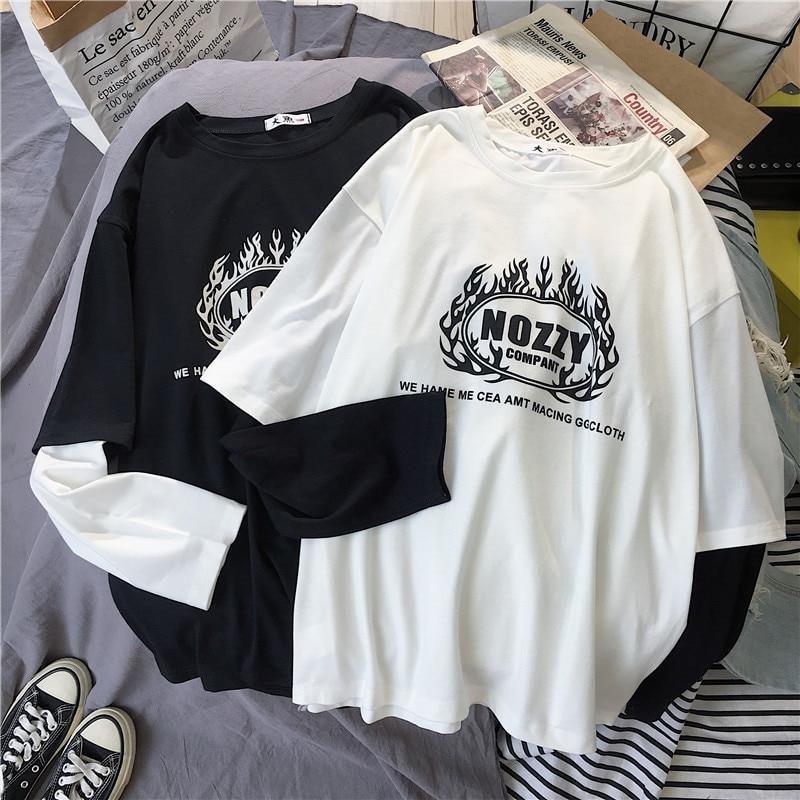 AliExpress Koreańskie koszule damskie litery w paski kawaii  9dpFN