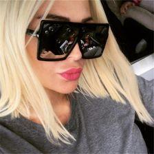 AliExpress 2019 nowych moda kwadratowych duże pudełko okulary przeciwsłoneczne damskie marka projektant mody Ceneo.pl