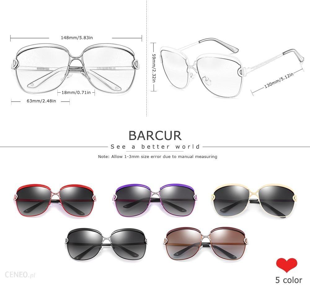 AliExpress BARCUR Polaryzacyjne damskie okulary przeciwsłoneczne z soczewkami gradientowym Luksusowy model