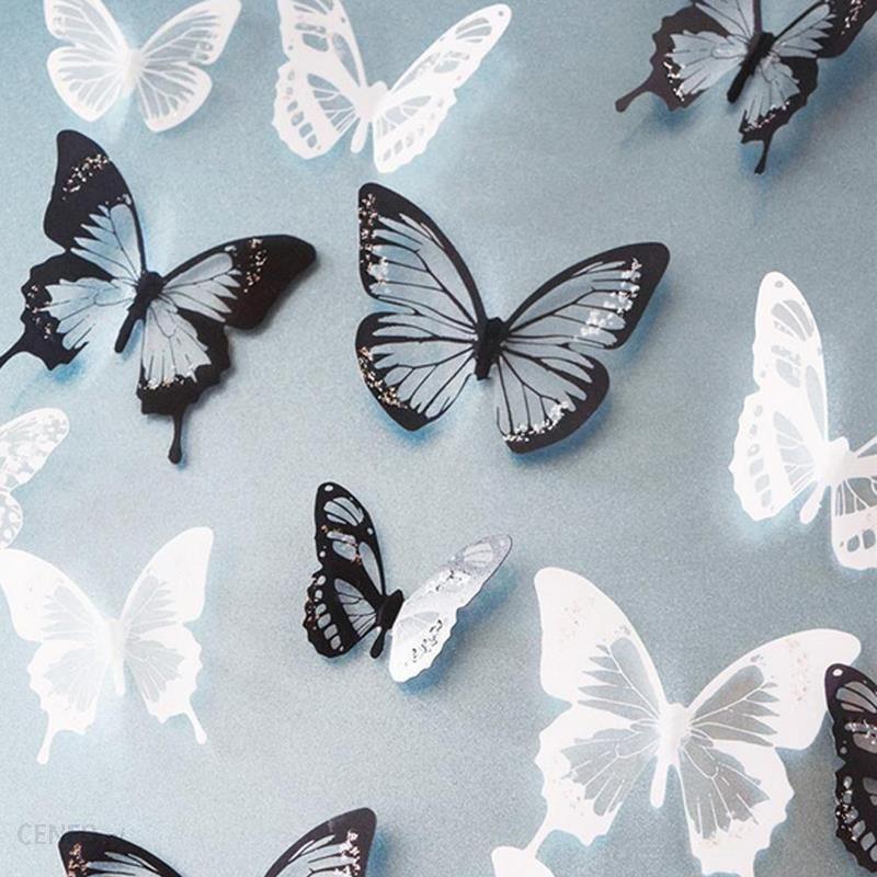 Aliexpress 18 Sztuk Partia 3d Crystal Naklejka Na ścianę Z Motylem Piękne Motyle Naklejki Ozdobne Naklejki Do Ceneo Pl
