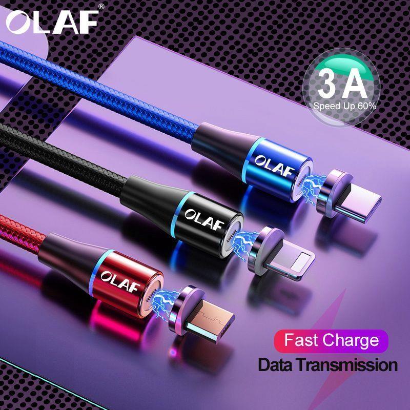 AliExpress OLAF 2M 3A kabel magnetyczny szybkie ładowanie 3.0 ładowarka micro usb typ C szybkie ładowanie dla Ceneo.pl