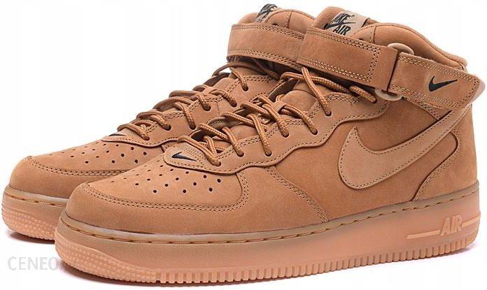 Buty Nike Air Force 1 Mid Flax DamskieMęskie W Brązowe
