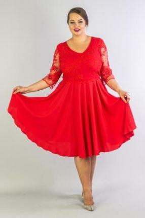 AVARO koronkowa sukienka SU 742 czerwony Ceny i opinie