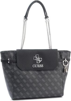 Guess Nikki średnia torebka z łańcuszkiem czarna Ceny i