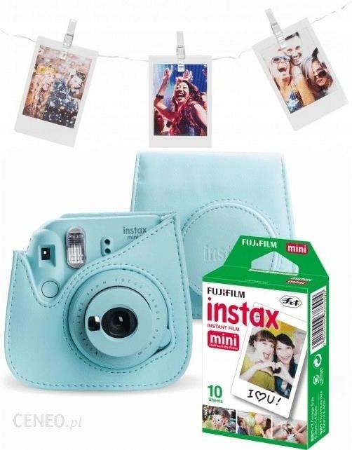 """""""Fujifilm Instax Mini 9"""" šviesiai mėlynas + dėklas, 1 pakuotės užpildymas, LED spaustukai"""