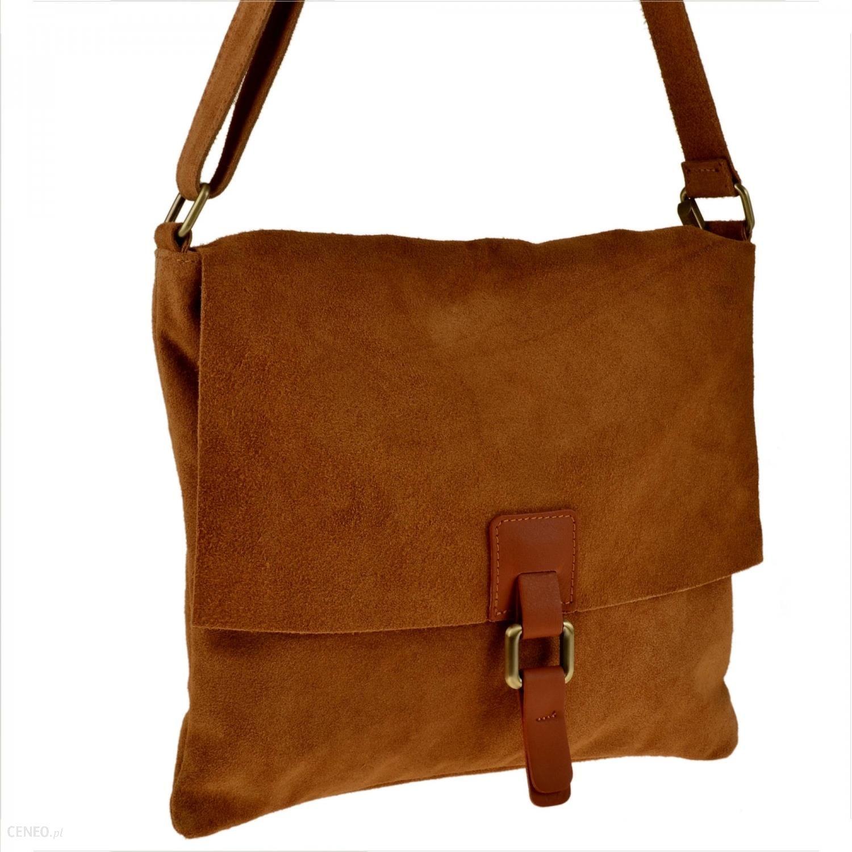 Skórzana torba na ramię – camel L