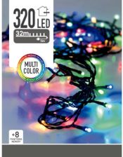 Home Styling Collection Lampki choinkowe 320 LED zewnętrzne 32 m multicolor (8406050)