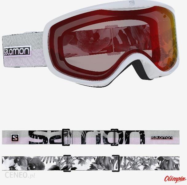 Gogle narciarskie damskie Salomon Sense White Flower Red S1 2020