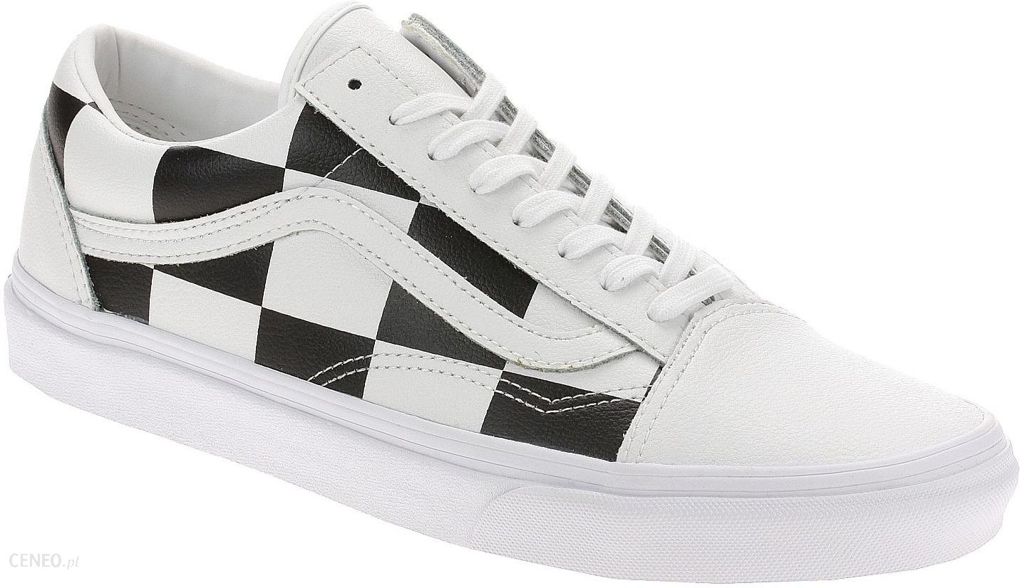 buty Vans Old Skool Leather CheckTrue WhiteBlack 38