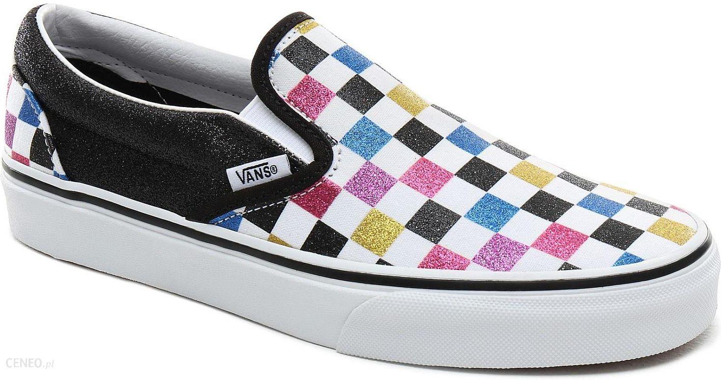 buty Vans Classic Slip On Glitter CheckerboardBlackTrue White 38.5