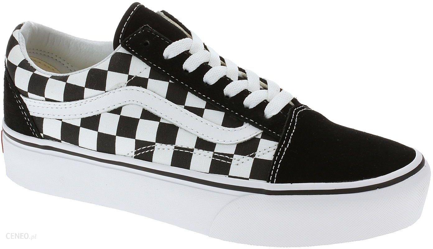 Buty Vans Old Skool Platform Checkerboard Black True White 36 Ceny I Opinie Ceneo Pl