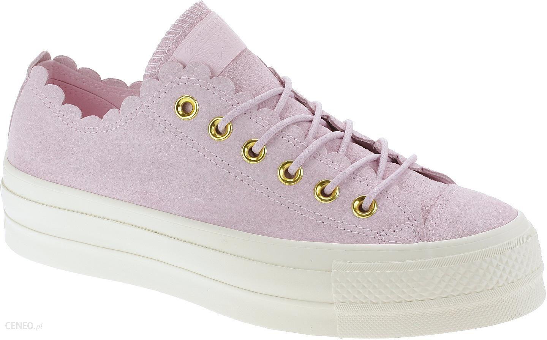 Converse różowe skórzane trampki na platformie Chuck Taylor All Star Lift OX Pink Foam 40 Ceny i opinie Ceneo.pl