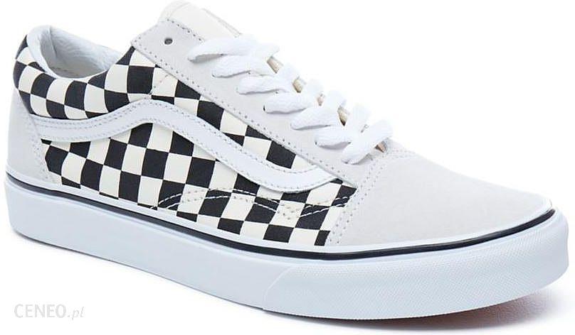 buty Vans Old Skool CheckerboardWhiteBlack 49