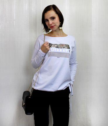 Biała bluzka w kwiaty Texas Club Ceny i opinie Ceneo.pl