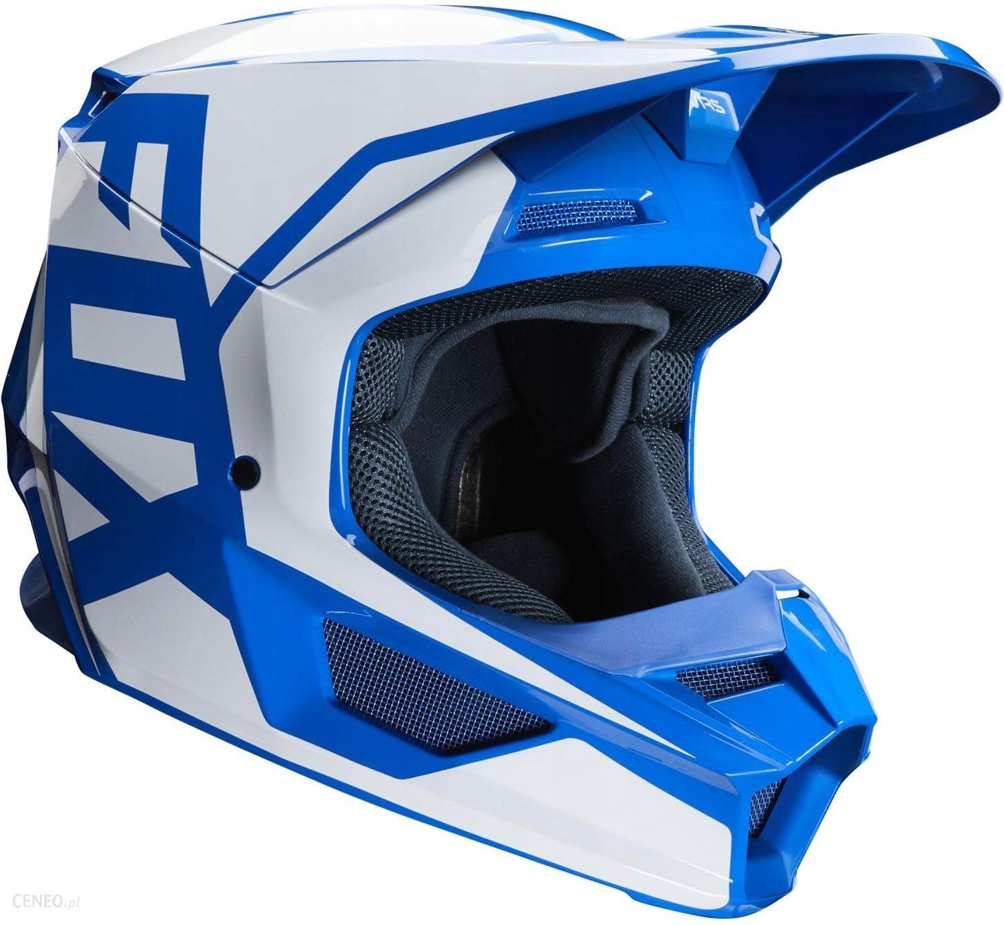Kask motocyklowy Kask Fox V1 Prix Blue niebieski biały