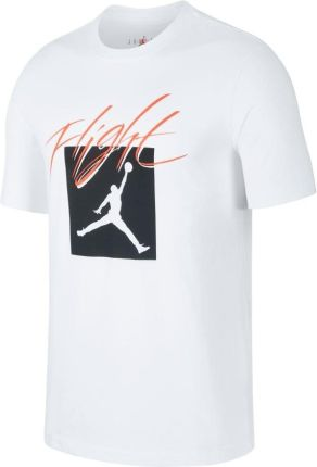 nike air jordan t-shirt biały
