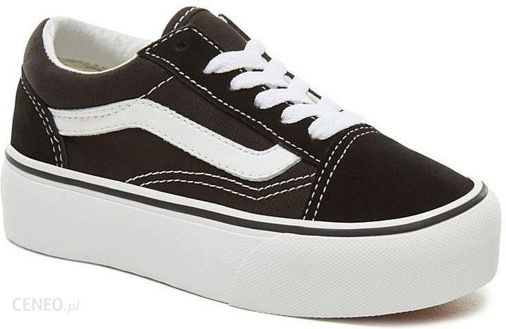 Dzieciece Buty Vans Old Skool Platform Black True White 34 Ceny I Opinie Ceneo Pl