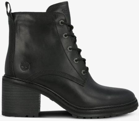 Workery damskie skórzane ocieplane czarne Dolce Pietro 1008