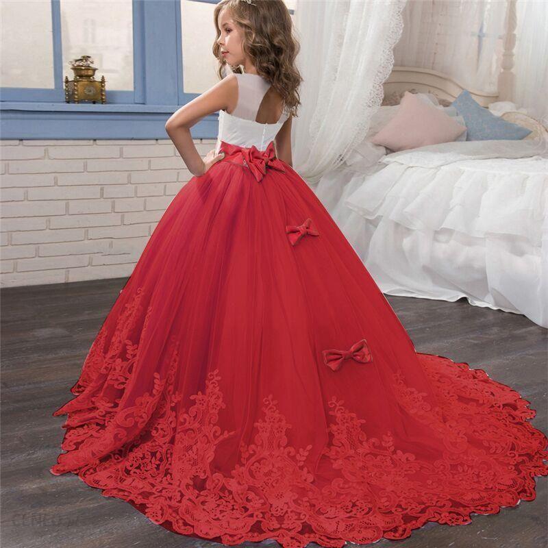 Aliexpress Elegancka świąteczna Sukienka Dla Księżniczki 6 14 Lat Sukienki Dzieci Dziewczynek Przyjęcie Ceneo Pl