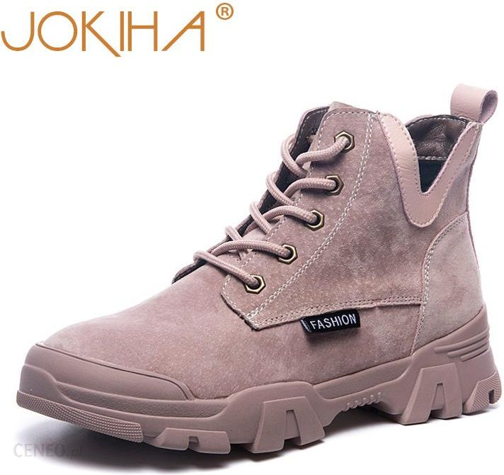 AliExpress 2019 buty do kostki ze skóry naturalnej kobieta moda trampki buty damskie płaski obcas buty do butów Ceneo.pl