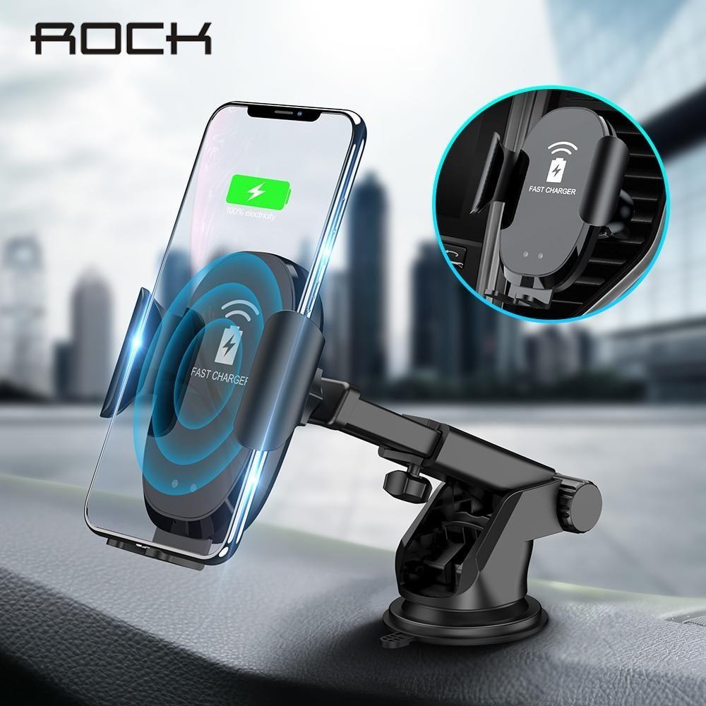 AliExpress ROCK podczerwieni automatyczna 10W Qi szybka bezprzewodowa ładowarka samochodowa dla iphone X 8 XR Ceneo.pl