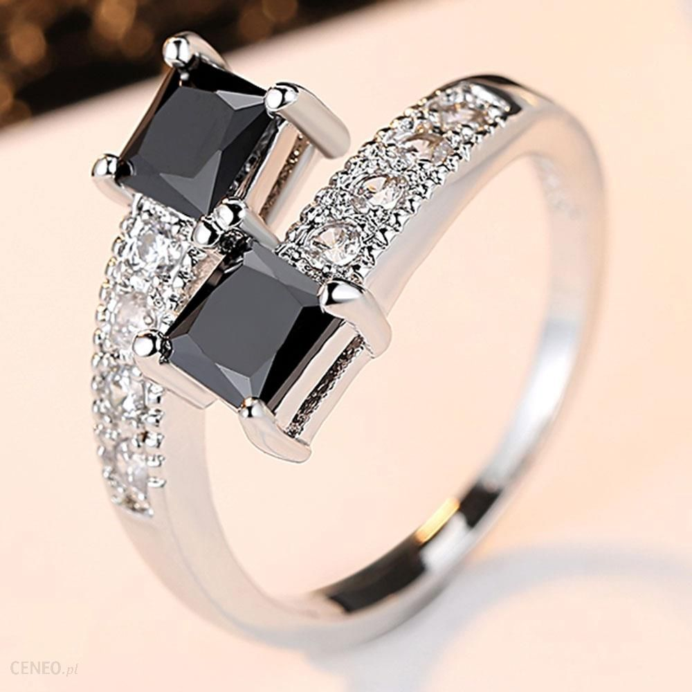AliExpress Luksusowe gwiaździste gwiazdy pierścionki prawdziwe 10KGF białe złoto wypełnione pierścienie dla