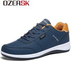 AliExpress OZERSK mężczyźni trampki moda mężczyźni obuwie skórzane oddychające męskie buty lekkie buty męskie Ceneo.pl