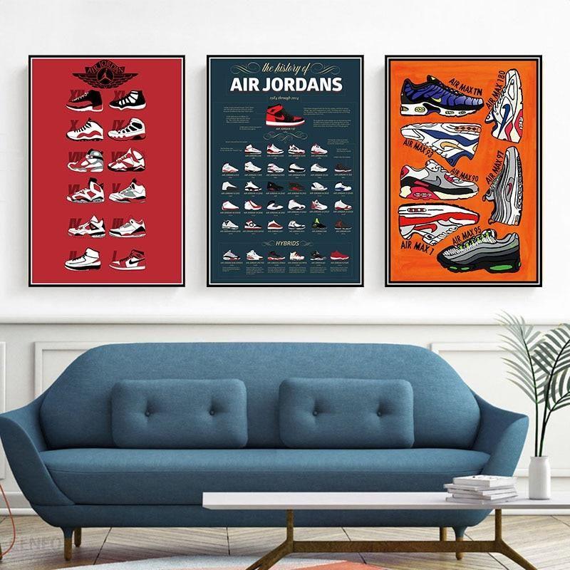 Buty Nike Air Jordan plakat