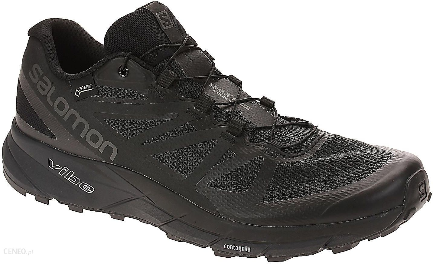 Buty trekkingowe Salomon Sense Ride Gtx Invisible Fit Black Black Magnet Ceny i opinie Ceneo.pl
