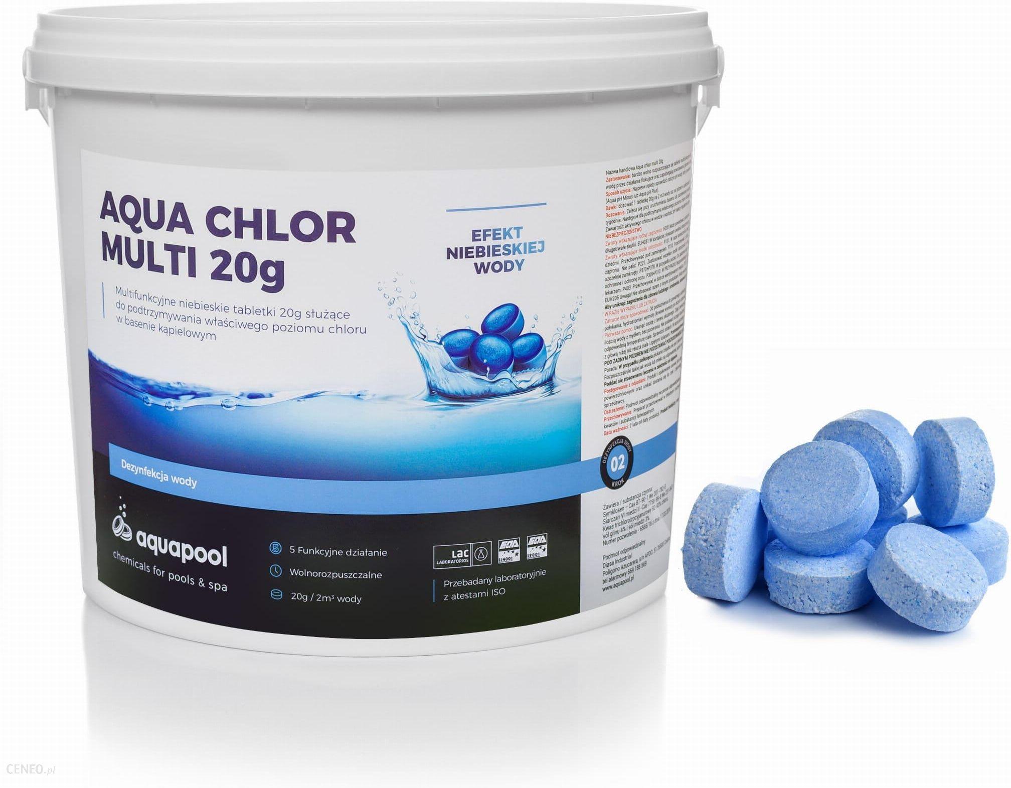 Aquapool Chlor Do Basenu Tabletki Blue 20g 5kg Ceny I Opinie Ceneo Pl