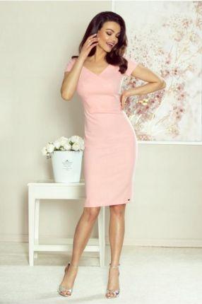 Kartes Moda Różowy Elegancki Komplet Sukienka+ Krótki Żakiet